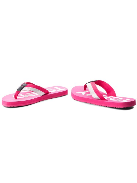 Tommy Hilfiger Tommy Hilfiger Japonki Glitter Strap Beach Sandal FW0FW02957 Różowy
