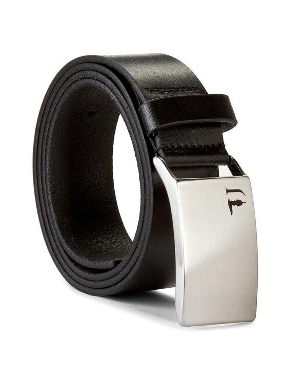 Trussardi Jeans Trussardi Jeans Pánsky opasok Placca Porta Logo Cinture 71C514 90 Čierna