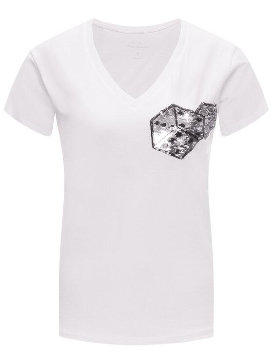 Armani Exchange Armani Exchange T-Shirt 6GYT92 YJG3Z 1000 Λευκό Regular Fit