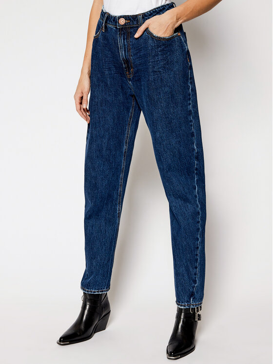 One Teaspoon Jeansy Relaxed Fit Crusarder 23668 Tamsiai mėlyna Relaxed Fit