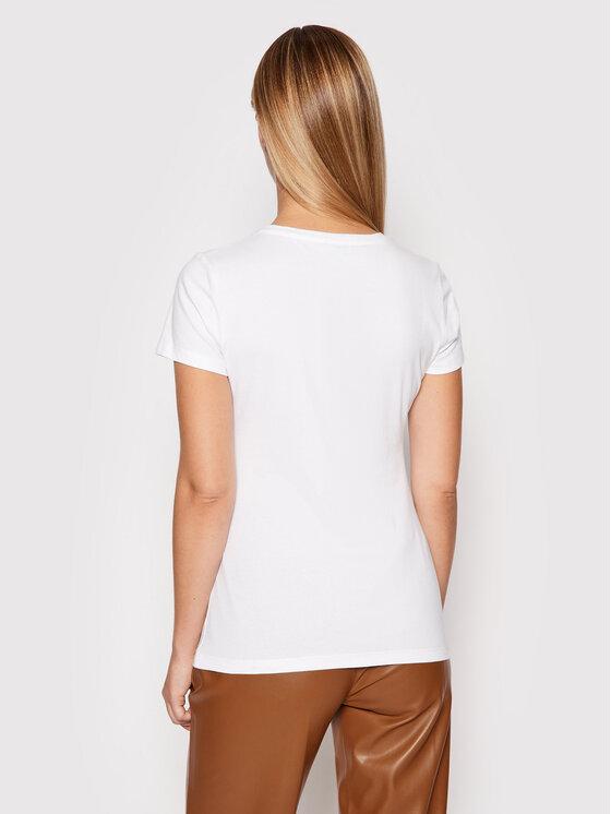 Liu Jo Liu Jo T-shirt WF1434 J5003 Bijela Regular Fit