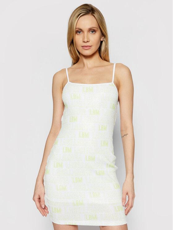 LaBellaMafia Kasdieninė suknelė 21278 Geltona Slim Fit