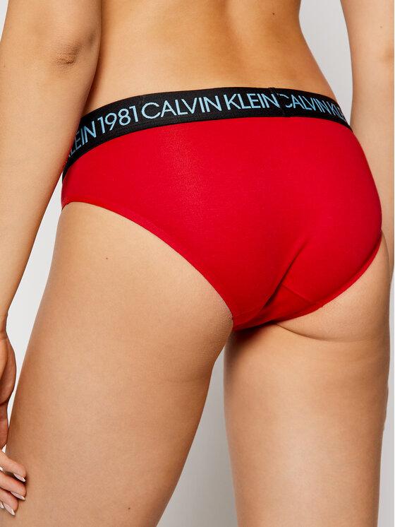 Calvin Klein Underwear Calvin Klein Underwear Класически дамски бикини 000QF5449E Червен