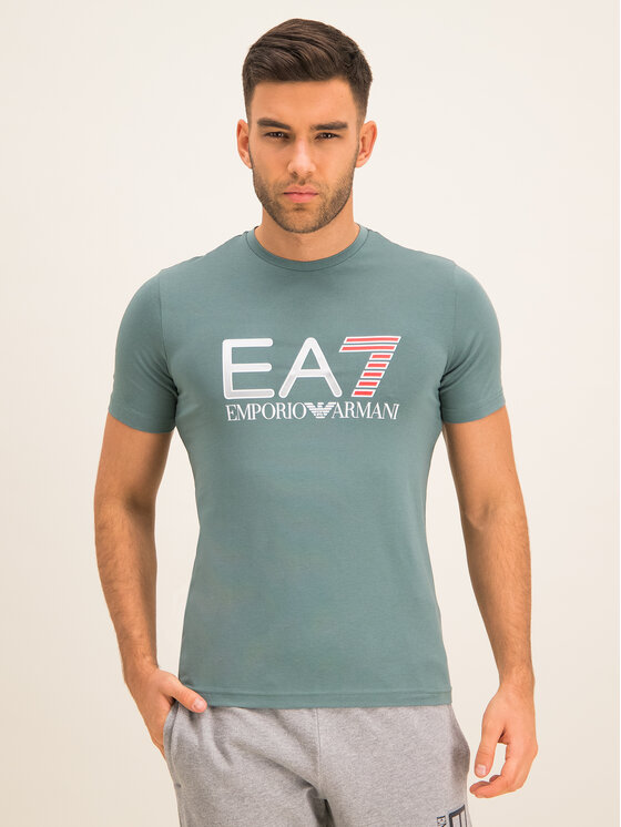 EA7 Emporio Armani EA7 Emporio Armani T-Shirt 3HPT05 PJ03Z 1858 Zielony Regular Fit