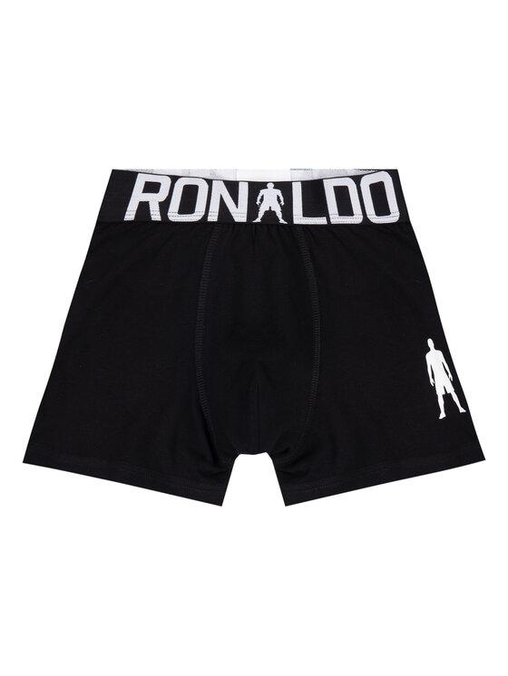 Cristiano Ronaldo CR7 Cristiano Ronaldo CR7 Set 2 perechi de boxeri Boys 2-Pack Boxer 8400-51-451 Negru