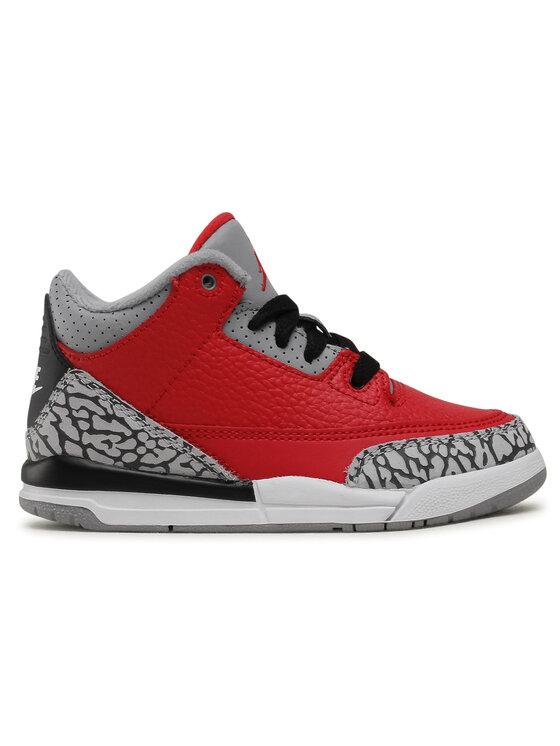 Nike Nike Buty Jordan 3 Retro SE (PS) CQ0487 600 Czerwony