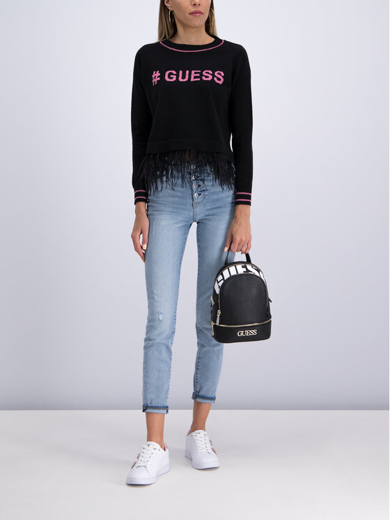 Guess Guess Sweater Isotta W93R48 Z2FZ0 Fekete Regular Fit