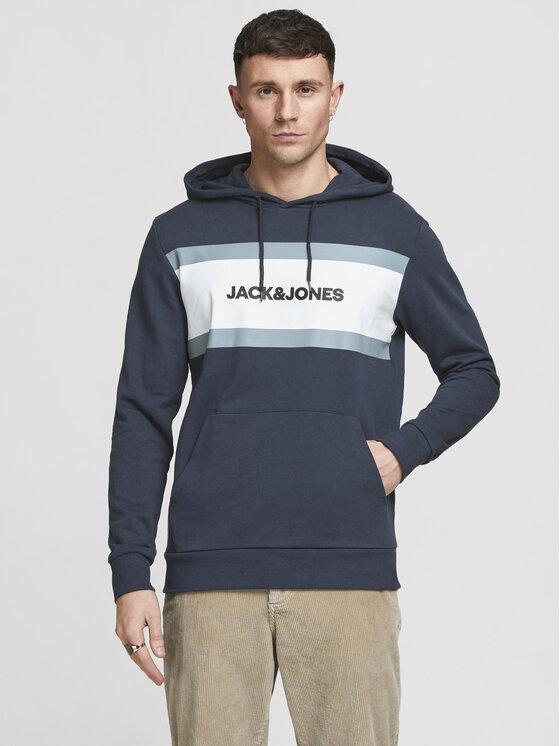 Jack&Jones Džemperis 12183444 Tamsiai mėlyna Relaxed Fit