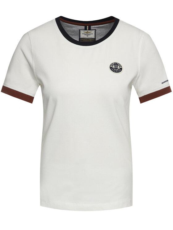 Aeronautica Militare Aeronautica Militare T-shirt 201TS1699DJ469 Bianco Regular Fit