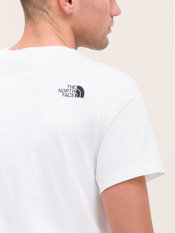 The North Face The North Face Tricou Simple Dome NF0A2TX5FN4 Alb Regular Fit