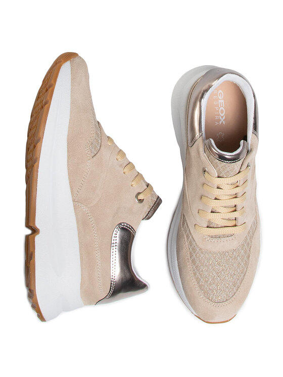 Geox Geox Sneakersy D Backsie C D02FLC 022GN C6738 Beżowy