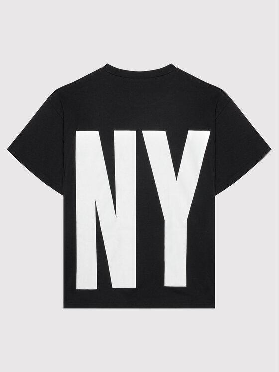 DKNY DKNY T-shirt D35R61 M Crna Regular Fit