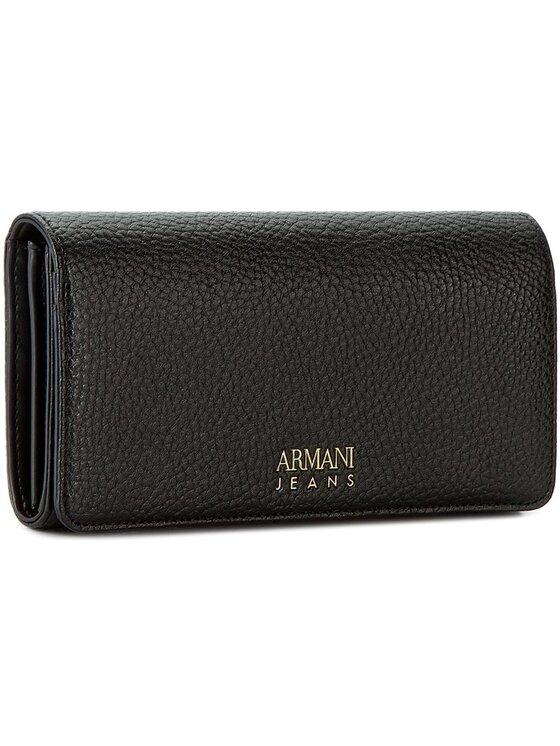 Armani Jeans Armani Jeans Duży Portfel Damski 928041 7A813 00020 Czarny