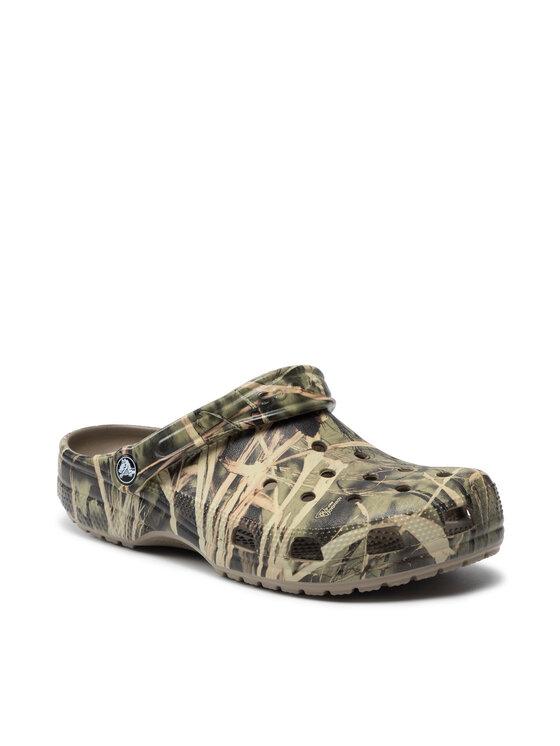 Crocs Crocs Klapki Classic Realtree 12132 Zielony