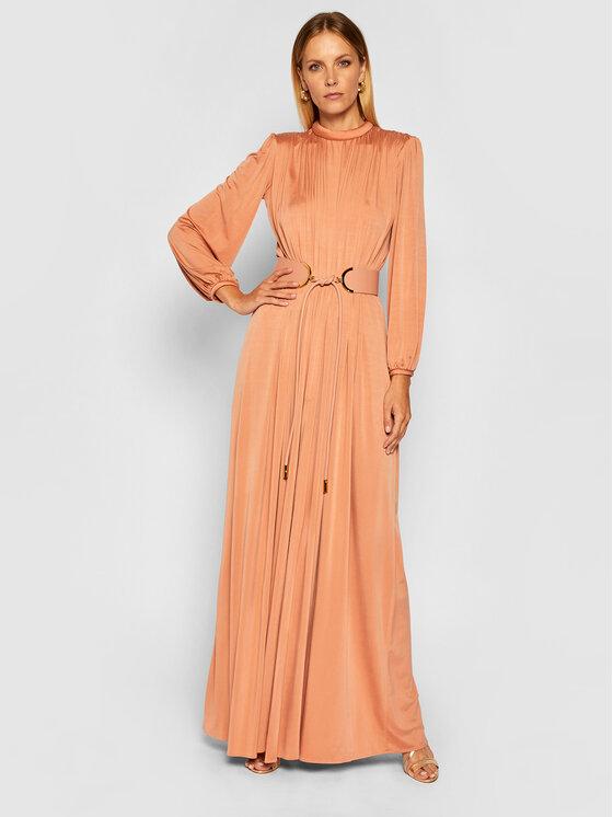 Elisabetta Franchi Sukienka wieczorowa AB-052-06E2-V669 Różowy Regular Fit