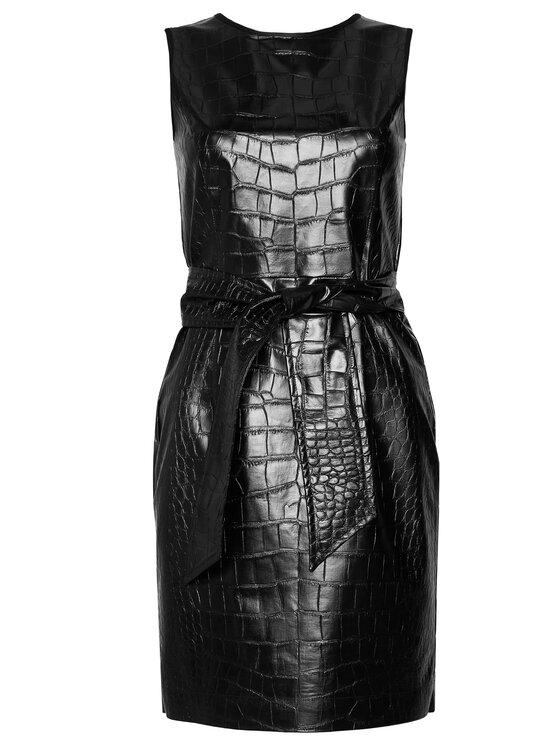 Pennyblack Pennyblack Sukienka z imitacji skóry Lovere 16240520 Czarny Regular Fit