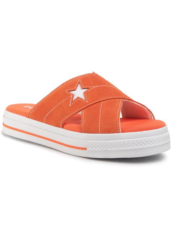 Converse Ciabatte One Star Sandal Slip 564146C Arancione • Modivo.it