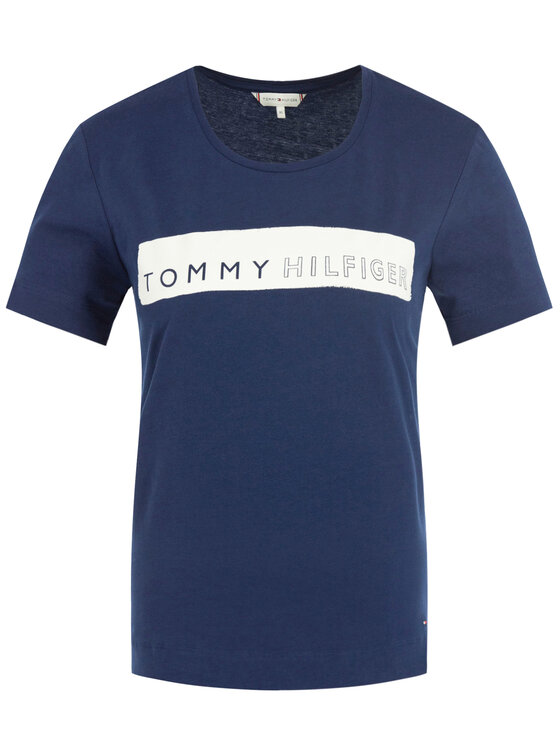 Tommy Hilfiger Tommy Hilfiger T-Shirt WW0WW25177 Σκούρο μπλε Regular Fit