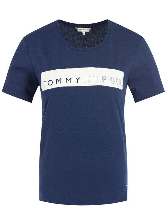 Tommy Hilfiger Tommy Hilfiger Tricou WW0WW25177 Bleumarin Regular Fit