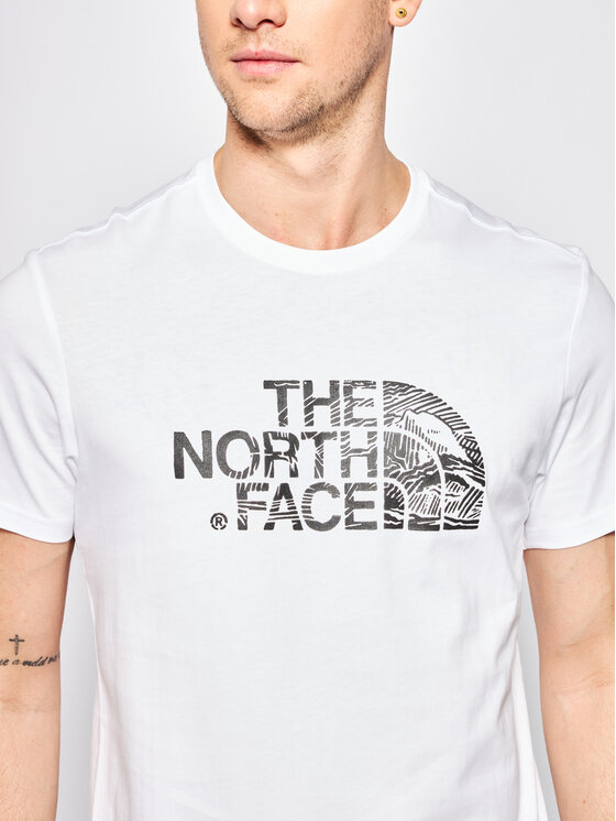 The North Face The North Face T-Shirt Wood Dome NF00A3G1LA91 Biały Regular Fit