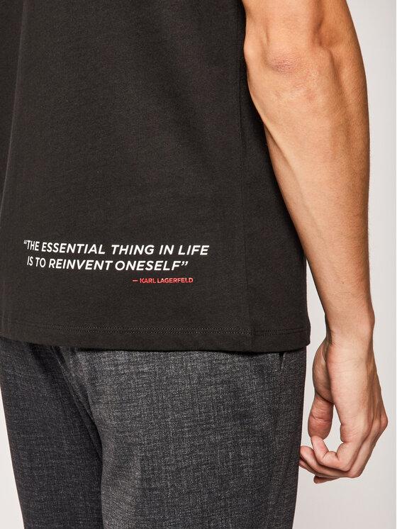 KARL LAGERFELD KARL LAGERFELD T-Shirt Crewneck 755092 501224 Czarny Regular Fit