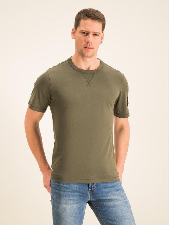 Calvin Klein Jeans Calvin Klein Jeans Тишърт Monogram Logo J30J314051 Зелен Regular Fit