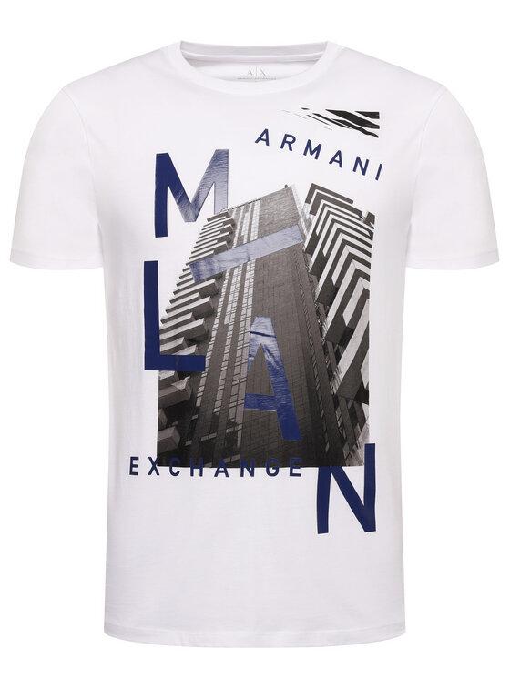 Armani Exchange Armani Exchange Тишърт 3HZTHP ZJH4Z 1100 Бял Regular Fit