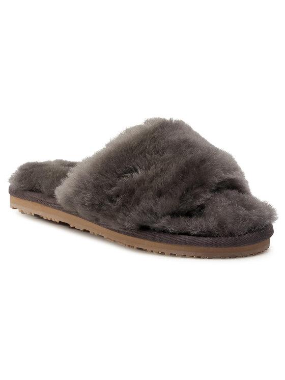 Mou Klapki Sheepskin Fur Slide Slipper FW161001L Szary