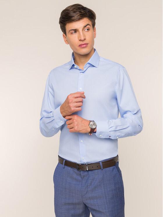 Tommy Hilfiger Tailored Marškiniai TT0TT01936 Mėlyna Slim Fit