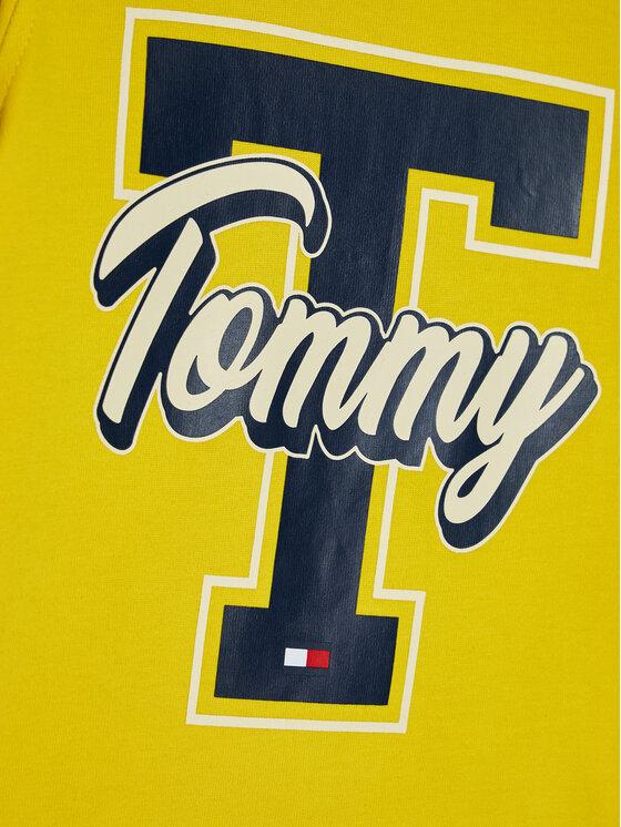TOMMY HILFIGER TOMMY HILFIGER Bluzka Fun Varsity Tee KB0KB06104 M Żółty Regular Fit