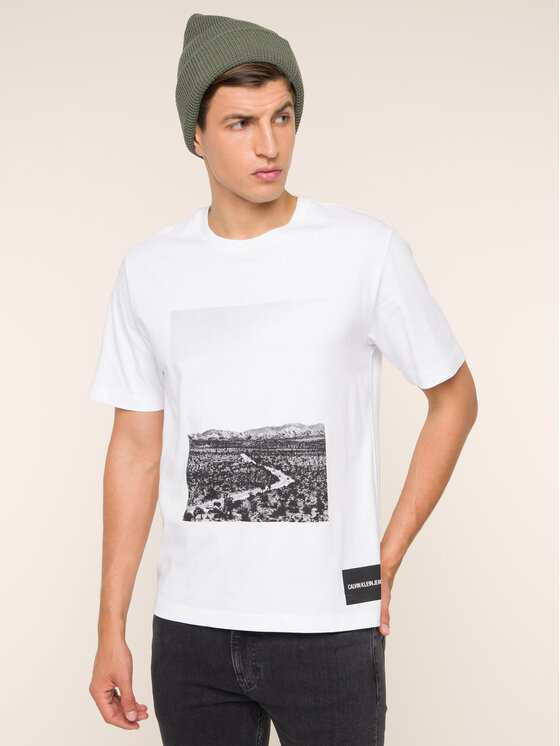 Calvin Klein Jeans Calvin Klein Jeans T-Shirt Photographic Road J30J313682 Λευκό Regular Fit