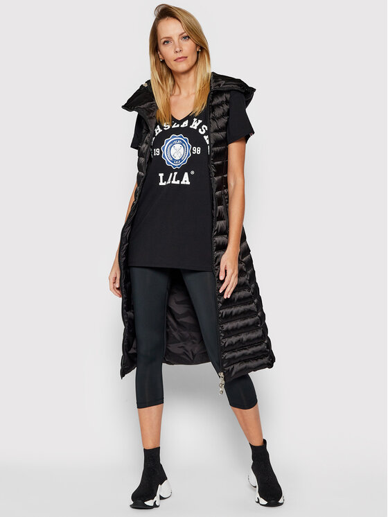 PLNY LALA PLNY LALA T-Shirt Warszawska Lala PL-KO-VN-00098 Czarny V-Neck Fit