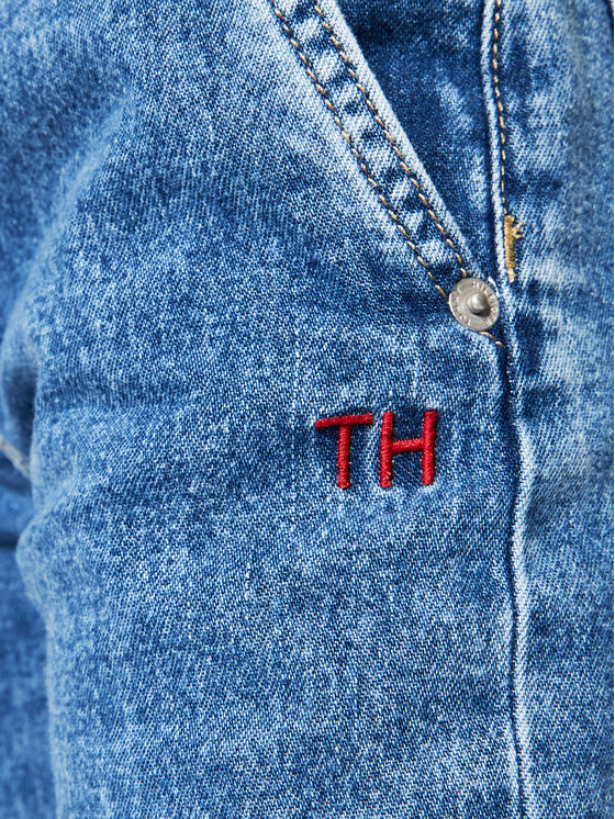 Tommy Hilfiger Tommy Hilfiger Jeansy KG0KG05799 D Granatowy Tapered Fit
