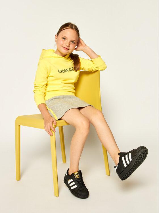 Calvin Klein Jeans Calvin Klein Jeans Felpa Institutional Logo Hoodie IU0IU00092 Giallo Regular Fit