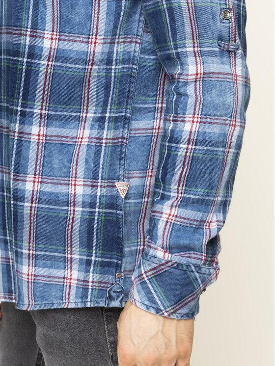 Guess Guess Риза M01H46 WCK30 Тъмносин Slim Fit