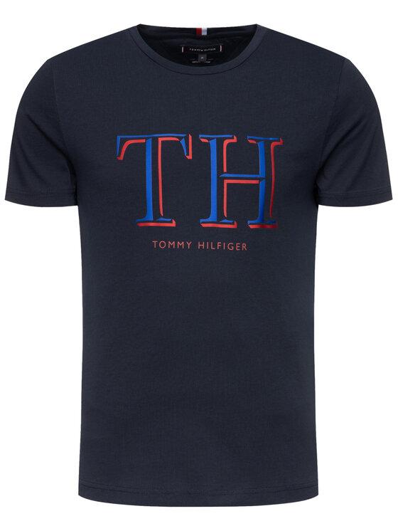 Tommy Hilfiger Tommy Hilfiger T-Shirt Logo MW0MW11824 Σκούρο μπλε Regular Fit
