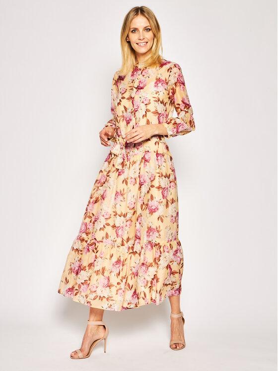 Marella Marella Kleid für den Alltag Clava 32213202 Beige Regular Fit