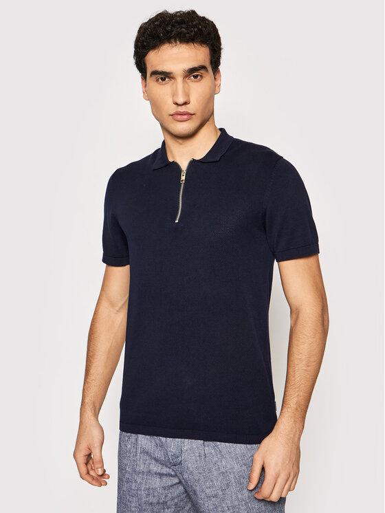 Jack&Jones PREMIUM Polo marškinėliai Blabowie 12187456 Tamsiai mėlyna Regular Fit