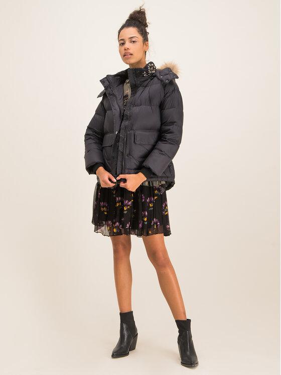 TWINSET TWINSET Vatovaná bunda Piumino 192TT2171 Čierna Regular Fit