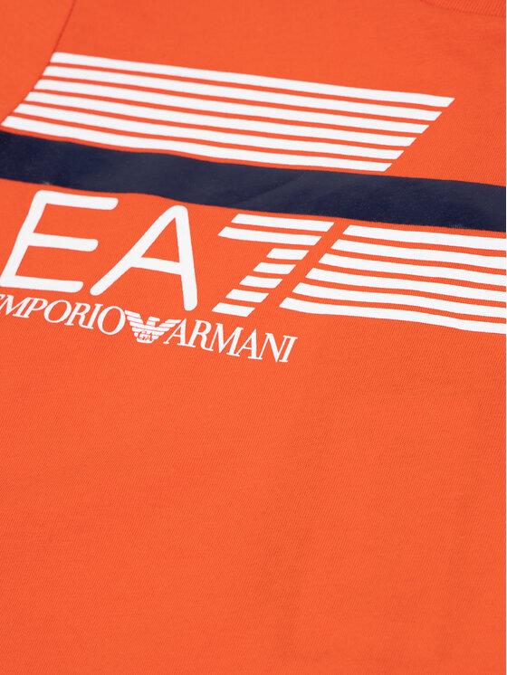 EA7 Emporio Armani EA7 Emporio Armani T-Shirt 3HBT54 BJ7CZ 1686 Orange Regular Fit