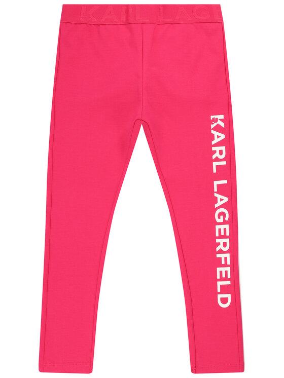 KARL LAGERFELD KARL LAGERFELD Legginsy Z14111 D Różowy Slim Fit