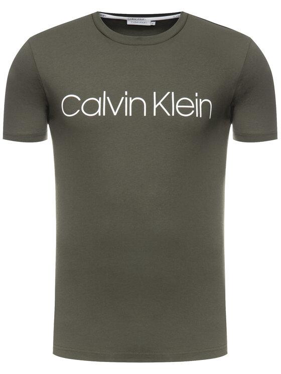 Calvin Klein Calvin Klein T-Shirt Front Logo K10K103078 Zielony Regular Fit