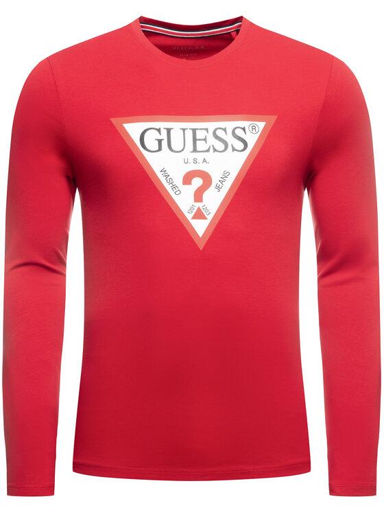 Guess Guess Longsleeve M01I72 J1300 Rosso Slim Fit