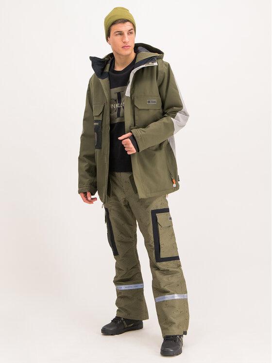 DC DC Snowboardová bunda EDYTJ03088 Zelená Regular Fit