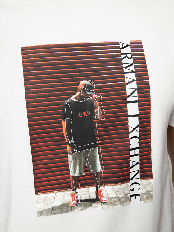 Armani Exchange Armani Exchange Marškinėliai 3HZTBQ ZJN7Z 1100 Balta Regular Fit