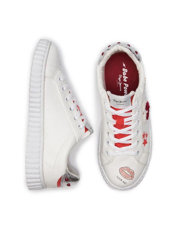 Pepe Jeans Pepe Jeans Laisvalaikio batai Taylor Prints PGS30386 Balta
