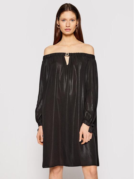 Liu Jo Beachwear Kokteilinė suknelė VA1020 T4859 Juoda Regular Fit