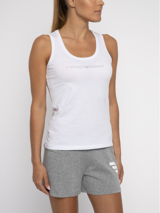 Emporio Armani Underwear Emporio Armani Underwear Top 163319 9P263 00010 Biały Slim Fit