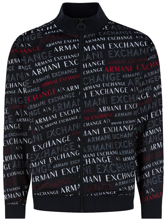 Armani Exchange Armani Exchange Mikina 3HZMFJ Z8M8Z 8535 Čierna Regular Fit
