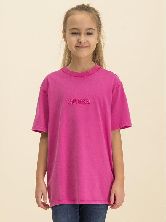 Guess Guess T-shirt H01J00 K82E0 Rosa Regular Fit